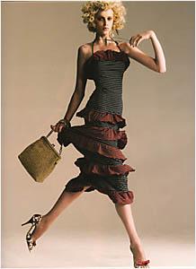 FORMER classical ballerina Emma Johnston has traded her tutu for high fashion.