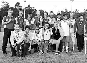 The Coffs Harbour over 50 representative team, from left, back, Gary Marshall, Peter Martin, Bruce Matten, Jack Partridge,  Ke