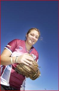 Toowoomba softballer Ashleigh Polzin. Image: Bev Lacey