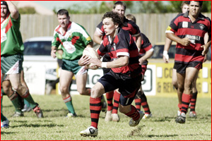 Josh Phelps finds some open space for Valleys in the Toowoomba Rugby League competition. Image: KEVIN FARMER