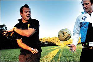 Woolgoolga rugby league twins Clint and Luke Crockett.