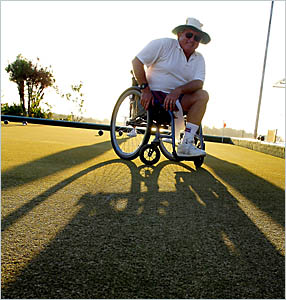 APPEAL: South Grafton Ex-Servicemen?s Bowling Club will hold a bowls charity day for amputee Doug Lambert, who needs a speciali