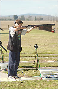 CRACKSHOT: Teenage clay target shooter Dean Caldwell.