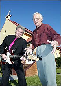 ROCK ?N? ROLL CHURCH: Wintersun organiser and musician Ron Kitchin gets geared up for the third annual Wintersun Church Service