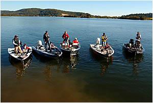 FISHING FANCY: Darren Borg of Iluka, left, Scott Towner of Sydney, Steve Wilson of the Gold Coast, Tim Morgan of Ipswich and Kr