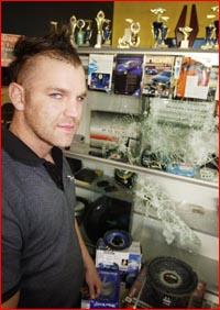 Thieves broke into Craig Ridgway's Hi-Fi Auto Mart.Pic: SCOTT FLETCHER