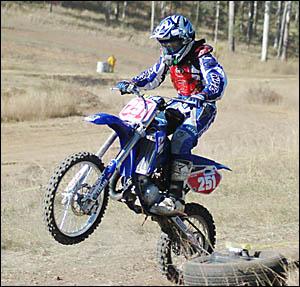 Jacob McLeod racing at Grafton on Saturday. Photo: MARK WHITE.