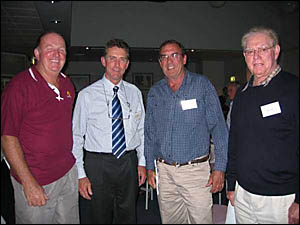 GETTING THE LIE OF THE LAND: Discussing rural issues were, from left, Tony Wade, Des Plunkett, Jeremy Challacombe and Vince Cas