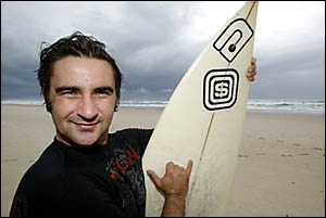 DARREN Bartles, happy to have been able to save the life of a swimmer at north Kingscliff yesterday morning.