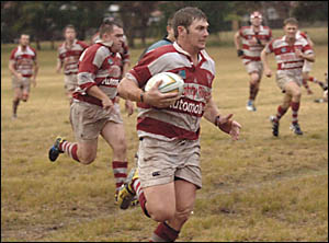 MAINMAN:Grafton centre Jon Chevalley has proved to be one of the best midfield stoppers in North Coast rugby. His ability to bo