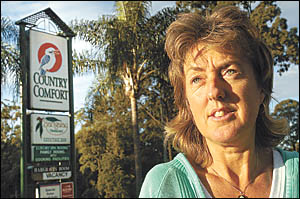 Corrina Sheleen says after 10 years, she was sacked from her job at Coffs Harbour?s Country Comfort motel without warning on Mo