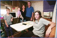 The Ulrick family  from left, Megan,9, mum Anita, Rikki,2, dad Rick and Rebecca, 12.