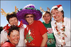 Bringing some Christmas in July cheer were Grafton Base Hospital?s Jan Scott, Leanne Warwick, Angie Garland, Kathleen O?Sulliva