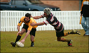 Try time again for the Yamba Buccaneers who scored 11 touch downs in the 65-0 thrashing of Coolangatta Tweed on Saturday.Photo