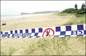 January 2005, police taped off the scene of alleged gang rape.