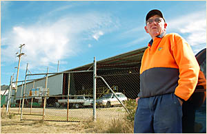 Max Hickey, the longest-serving Bostobrick mill employee.