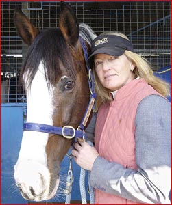 Well-known Australian equestrian rider Vicki Roycroft is competing in Toowoomba this weekend.