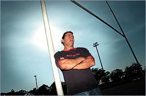 Referee Alec Cullen at Rex Hardaker Oval.