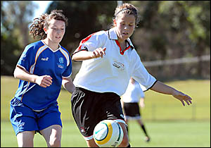Girls just want to play football . . . the Football Federation Australia has given Coffs Harbour a giant pat on the back for th