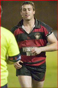 Valleys forward Tony Gollan leaves the field after being sent off against Brothers. Image: SCOTT FLETCHER