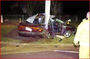 The horrific accident scene yesterday. Pic: Scott Fletcher