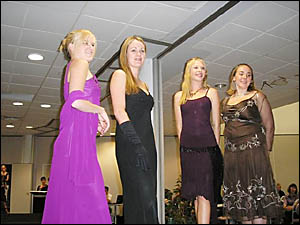JACARANDA Queen candidates modelling formal wear at the annual fundraising fashion parade.
