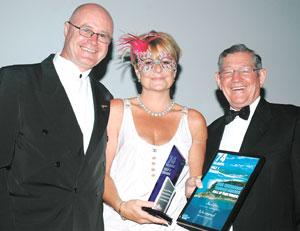 HALL OF FAME WINNERS: Alan Sweeney, Jayne Pester and Mario Demartini. Pic: Hamilton Island Photography