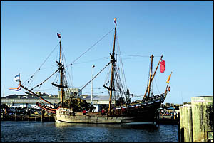 Four hundred years ago the Duyfken, a small trading ship of the Dutch East India Company, made the first European contact with