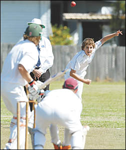 Young Diggers spinner Joe Willman showed he will be a handful for many bastmen this season, taking 4-33 against Sawtell on Satu