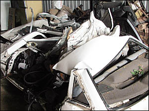 Only days after four teenagers died in this wreckage, a P-plate driver was caught driving at 176km/h at Halfway Creek.