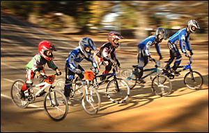 MOTIONBLUR:The Clarence River BMX Club will host more than 130 competitors at its annual Jacaranda meet tomorrow.