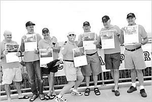 Nude calendar models Mick Beehag, Greg Taylor, Ross Cowan, Andrew Cox, John Long, Paul Amundsen, Graham Taylor, and Curt Dussel