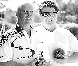 Like father, like son . . . George and Luke Fisher. Photo: BRUCE THOMAS