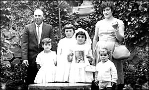 Alec and Serafina Luciani in Ebor with their children (from left) Anna, Giugliana, Dina and Giov ianni.