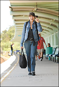 After 21 years of travelling 609km by train to work, Adrienne Casey is commuting to Sydney for the last time this week. In spit