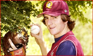Toowoomba baseballer Phil Vanderneut is making his mark on the pitcher's mound. Picture: Neville Madsen