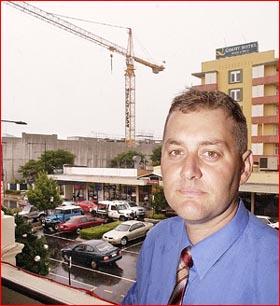 Leon Carlile overlooks an inner-city on the move.Pic: Neville Madsen