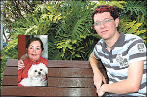 Australia?s youngest kidney donor, Ben Bowen and inset, his mother, Martina. His donation allowed her to end 13 years of kidney