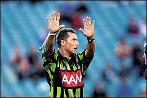 Rugby league referee Shayne Hayne.