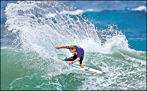 Nambucca Heads surfer Heath Joske finished third in the Kustom-Jetty Surf Pro Junior held at Jan Juc.                        Ph