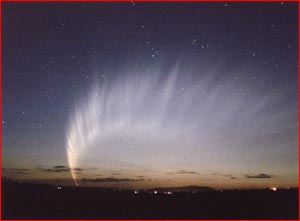 This photo of the McNaught Comet was snapped  by astronomer Noeleen Lowndes. Pic: Noeleen Lowndes.