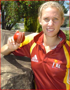 Warwick bowler Delissa Kimmince has made the Australian under 23 side. Pic: supplied