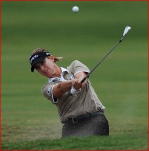 Australia's Karrie Webb is leading 2007 Women's Australian Open Golf Championship. Picture: AAP IMAGE