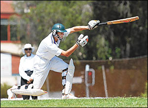 ?I could play this team with one hand?: Diggers? Joe Mennie on his way to equal top-scoring with 42.