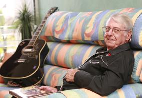 Country music star Kevin King relaxes at home at Kawana Island.