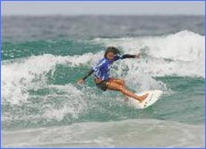 Naomi Stevic of Castaways Beach flies the flag for the Sunshine Coast in her second round heat.