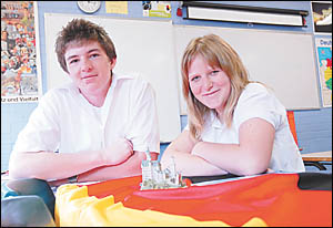 Orara High Students Philip Lewis and Danika Cooper