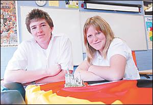 Orara High Students Philip Lewis and Danika Cooper