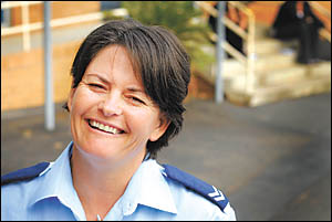 Here to help ... Senior Constable Bernadette Snow, the new school liaison officer with Coffs/Clarence police, wants to meet as