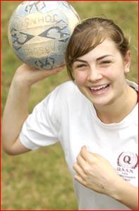 Toowoomba netballer Hannah Johnson. Pic: Kevin Farmer